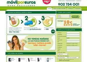 Web de Móvil por Euros